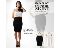 Basic Pencil Skirt [BLACK]
